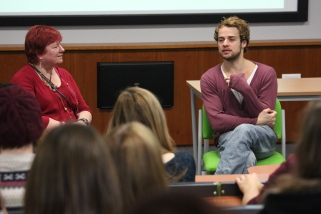 Interviewing Alex Waldmann at York St John University, October 2013