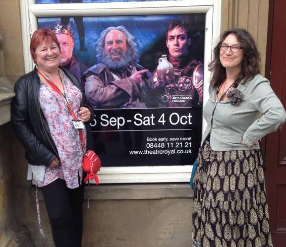 My co-teacher, Saffron Walkling and myself on a student theatre trip to Newcastle