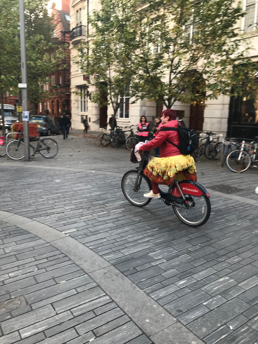 On my way to the Royal Court on a Boris Bike
